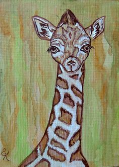 http://fineartamerica.com/featured/baby-longneck-giraffe-ella-kaye.html Baby Longneck Giraffe by Ella Kaye.