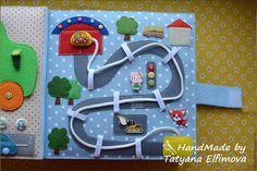 Quiet book page. Baby Quiet Book, Felt Quiet Books, Book Crafts, Felt Crafts, Binding Quiet Book, Diy Busy Books, Diy For Kids, Crafts For Kids, Felt Kids
