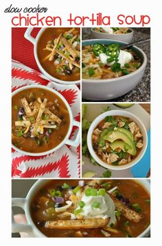 Crock-pot Chicken Tortilla Soup via @Jenn @ Peas and Crayons