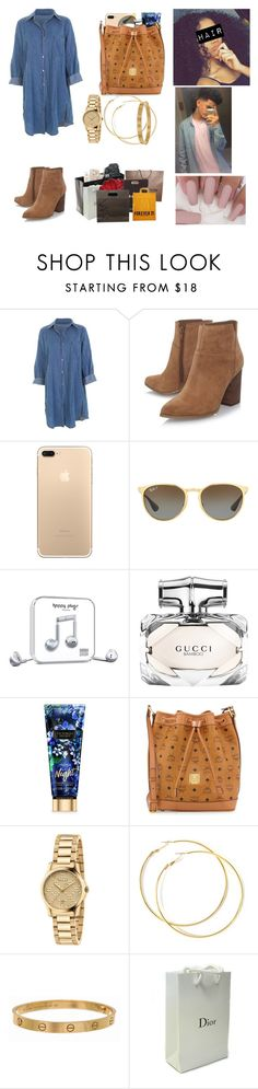 """""""Going to the mall with Robbie❤️🛍"""" by kaelynjones05 ❤ liked on Polyvore featuring Nine West, Ray-Ban, Happy Plugs, Gucci, MCM, Cartier, Chanel, Sephora Collection, Louis Vuitton and Forever 21"""
