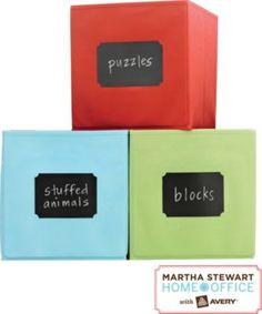 Martha Stewart Home Office™ with Avery™ Chalkboard Labels & Chalk