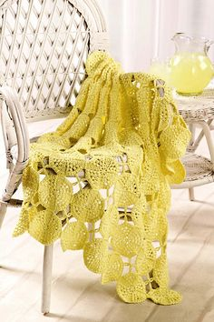 Ravelry: Lemonade Stand Throw pattern by Shannon Mullett-Bowlsby
