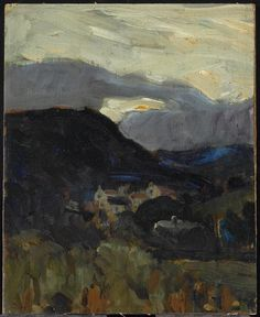 Landscape, Wales, c. 1892: James Wilson Morrice, Canadian, 1865 - 1924 Oil on canvas on board.