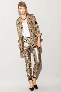 gilded sequin pant - yes please! via pixie market