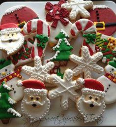 Santa Cookie Mix 24cookies by SugarySweetCookies on Etsy