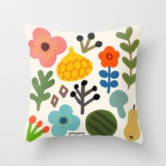 Spring Throw Pillow by goolygooly - $20.00