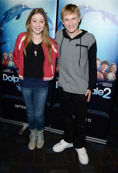 Cozi Zuehlsdorff and Nathan Gamble on press tour Dolphin Tale 2, Sea Dolphin, Nathan Gamble, Clearwater Marine Aquarium, Winter Quotes, Young Celebrities, Press Tour, 5 Year Olds, Dolphins