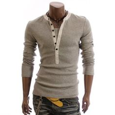 This in black would ba awesome :) Mens Casual Lined Cotton Long sleeve Shirts