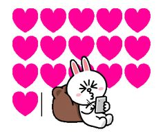 Cute Couple Cartoon, Cute Cartoon Pictures, Cute Love Pictures, Cute Love Cartoons, Love Images, Friends Gif, Line Friends, Animated Birthday Greetings, Cony Brown