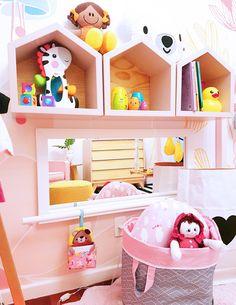 Baby Bedroom, Baby Room Decor, Kids Bedroom, Nursery Decor, Ikea Kura, Fashion Room, Wall Shelves, Room Interior, Decoration