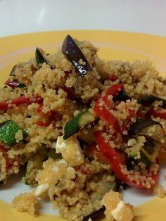 Couscous con verdure grigliate e feta