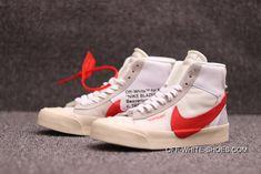 cheap for discount e8342 58839 Channel Sulfide OFF-WHITE X Nike Blazer Mids To Be Retro Limited Skateboard  Shoes WHITE