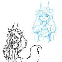 Izzara Sketches 1 by GothicKitty3