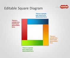 Free editable square PowerPoint template is a free PPT Template for presentations that contains a simple square diagram design with different variants