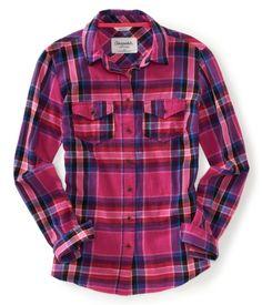Aéropostale Long Sleeve Frankie Plaid Woven Shirt