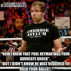 I was happy Ambrose said this on RAW because it proves that he will never be PG (and I love it)