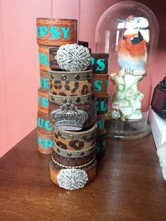 Upcycled cuffs by Orphaned Heirlooms on etsy