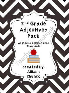 2nd Grade Adjectives Pack product from Mrs-Chuncos-Class on TeachersNotebook.com