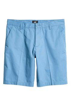 Short chino shorts - Sky blue - Men   H&M GB