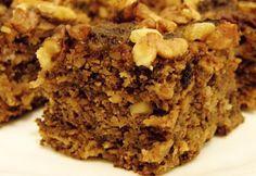 Almás-diós kocka cukormentesen Healthy Cake, Healthy Cookies, Diabetic Recipes, Cooking Recipes, Healthy Recipes, Fall Desserts, Vegan Desserts, Diet Cake, Salty Snacks