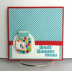 get well card, great blog w/ mini books for summer