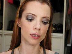 Julia Petit Passo a Passo Cinza e Azul Maquiagem