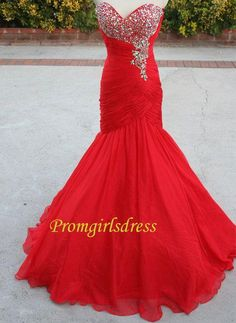Vera Wang Prom Dresses Fine Real Picture Mermaid Prom Dresses Red Chiffon Ruched Corset Beads Sweetheart Sexy Long Dress For Prom Vestido Festa Unique Vintage Prom Dresses From Adminonline, $129.84| Dhgate.Com