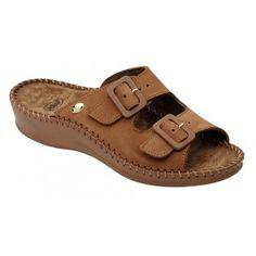 Chinelos Dr Scholl Weekend Mules Tan, cor canela.