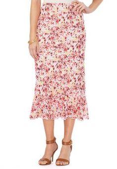 Cato Fashions Floral Garden Skirt-Plus #CatoFashions