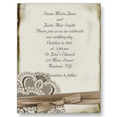 just a plain ribbon....Weddings - Vintage Stationery