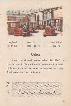 Abecedar 1959 – Un zâmbet de copil… Learn German, Vintage School, Kids Education, Book Illustration, Nostalgia, Activities, Learning, Books, Photography