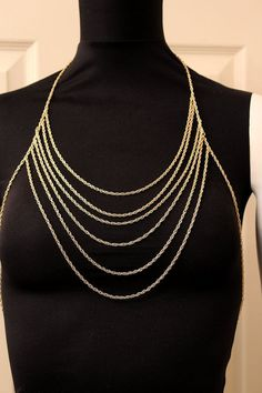 Body Chain Armor Gold Draping Chains