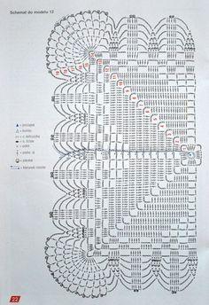 Scheme crochet no. 3135 - Her Crochet Crochet Bedspread Pattern, Crochet Doily Rug, Crochet Motif Patterns, Crochet Tablecloth, Crochet Diagram, Crochet Chart, Crochet Squares, Thread Crochet, Filet Crochet