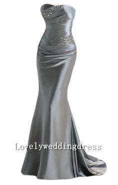 Sheath+Mermaid+Strapless+Long+Dress+Taffeta+by+LOVELYWEDDINGDRESS,+$128.00