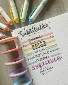Bullet Journal School, Bullet Journal Paper, Bullet Journal Lettering Ideas, Journal Fonts, Bullet Journal Notebook, Bullet Journal Themes, Bullet Journal Inspiration, Book Journal, Bullet Journal Ideas Handwriting