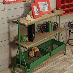 Factory Cart   Industrial Rolling Cart   Console Table from DecorSteals