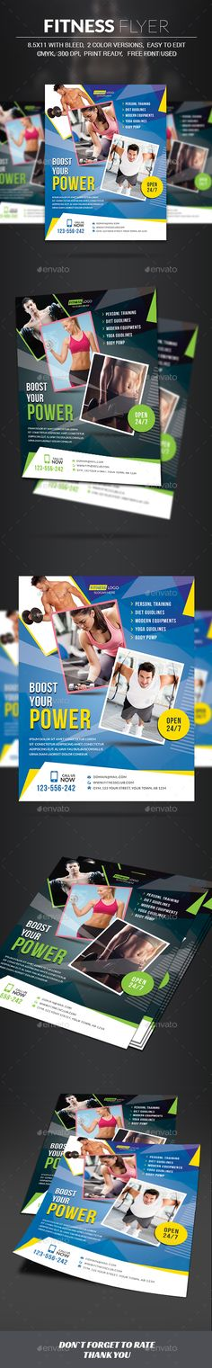 Fitness Flyer Flyer template - fitness flyer