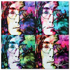 Wall Clocks Décor | Pop Art Clock John Lennon Clock  Pop Culture Decor  Vibrant Multicolor Beatles Wall Clock  Colorful Metal Wall Clock >>> Check out this great product.(It is Amazon affiliate link) #yum