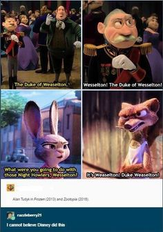I noticed this the other day when me and my brother were watching Zootropolis, he didn't get why I was laughing