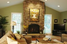 stone facade fireplace, what a statement