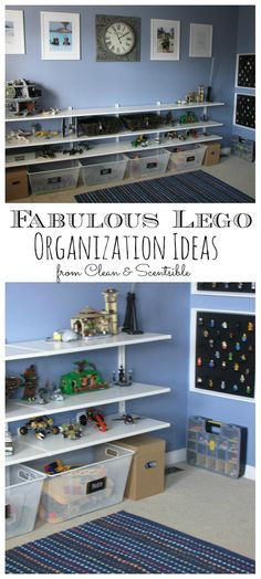 Keep the Legos organized and accessible. All sorts of good ideas here.