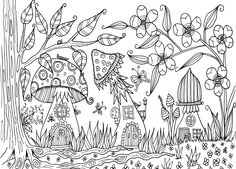 Color Page Coloring Pages House Colouring Fall Printable