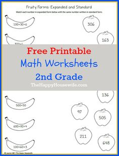Math Worksheets For 2nd Grade Free Printables The Happy Housewife Home Schooling 2nd Grade Math Math Worksheets Math Packets