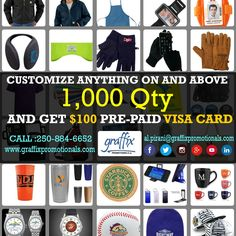 This #newyear graffix promotionals offers on customized #products. Get anything customized 1000 qty product we will offer a pre-paid $100 Visa card.