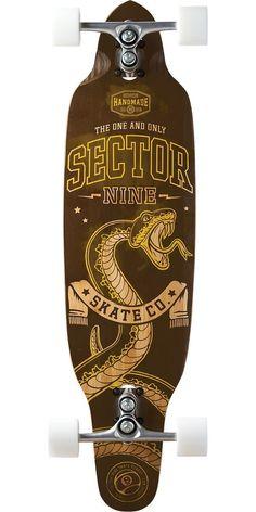 Sector 9 Striker Longboard Skateboard Complete - Brown. Sector 9 Striker Longboard Skateboard Complete - Brown