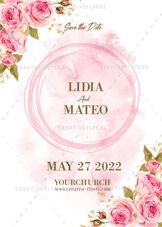 Download editable Wedding invitation design,  wedding invitation with flowers, creative wedding ideas. #wedding #psd #photoshop #card #invitations #creative #greeting #cards #savethedate Floral Invitation, Wedding Invitation Templates, Wedding Cards, Wedding Events, Creative Flyers, Creative Wedding Ideas, Beautiful Wedding Invitations, Pink Watercolor, Floral Wedding