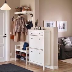 IKEA entrance furniture - HEMNES hat rack, shoe bench and shoe cabinet