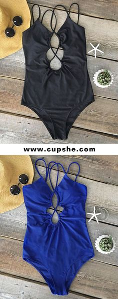 Treat yourself something special on the beach~ New trending solid colour one-piece swimsuit lead you to the latest fashion. Hot deep-cut design and cross at front gonna catch everyone's eyes. To put more joy into next-travel luggage~ Shop now with free shipping!