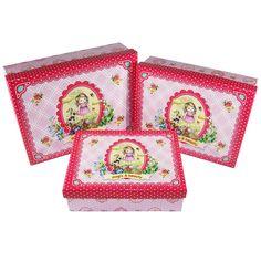 "Nostalgiebox ""magic & beauty"" Größe S - L Aufbewahrungsbox; bedruckte Pappe; Gr. S: 17,7 x 13,7 x 5,4 cm; Gr. M: 19,7 x 15,2 x 6 cm; Gr. L: 21,7 x 16,7 x 6,8 cm"