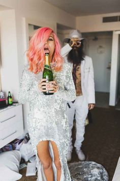 And honestly, after looking at these photos you might want to do the same.- rockstar wedding